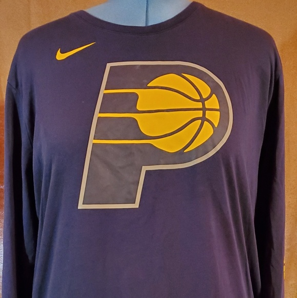 wholesale dealer 9ec57 8773a Nike Indiana Pacers Long Sleeve Shirt